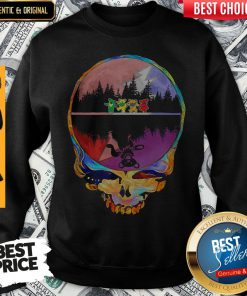 Official Skull Hippie Bear Water Reflection Sweatshirt