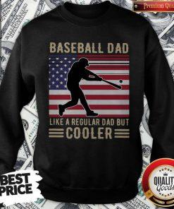 Premium Baseball Dad Like A Regular Dad But Cooler American Flag Sweatshirt