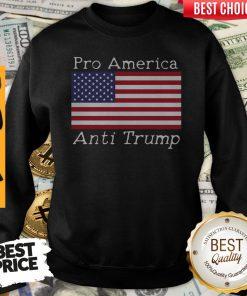 Premium Pro America Anti Trump American Flag Anti Trump Sweatshirt