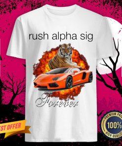Funny Tigger And Lamborghini Rush Alpha Sig Forever Shirt