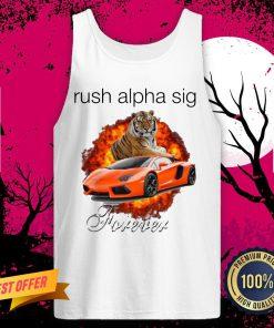 Funny Tigger And Lamborghini Rush Alpha Sig Forever Tank Top