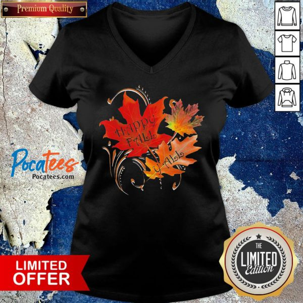 Happy Fall Y'all Cute Autumn Quote Thanksgiving Shirt Design By Valleytee.com