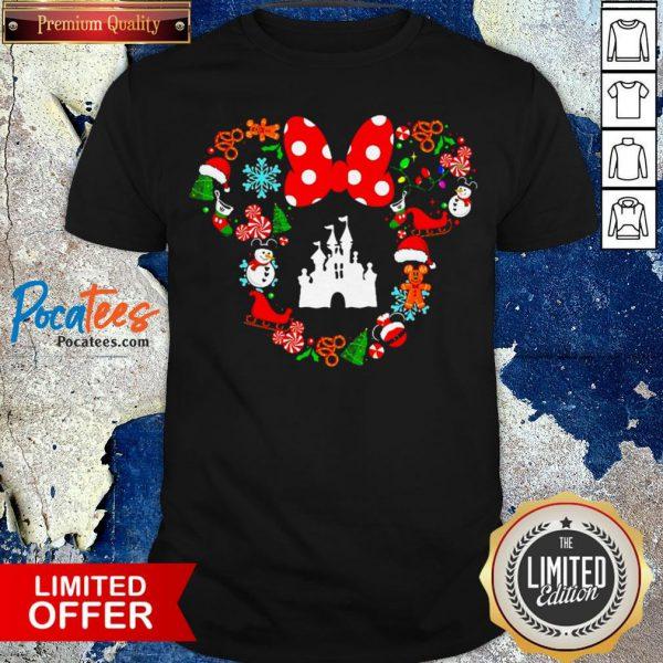 Top Disney Minnie Mouse Merry Christmas Shirt Design By Pocatee.com