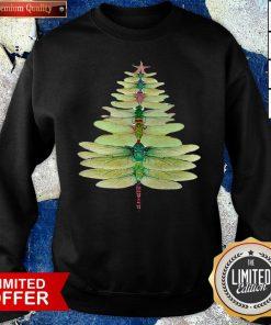 Premium Dragonfly Christmas Tree Print Sweatshirt