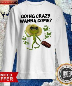 Premium Frog Going Crazy Wanna Come Sweatshirt