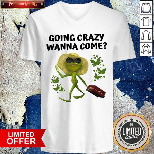 Premium Frog Going Crazy Wanna Come V-neck