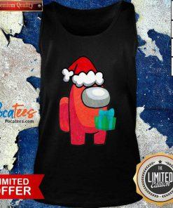 Among Us Hat Santa Merry Christmas 2020 Tank Top - Design By Pocatees.com
