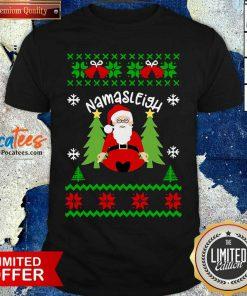Santa Yoga Namasleigh Ugly Christmas Shirt- Design By Pocatees.com