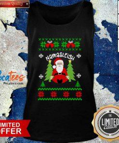 Santa Yoga Namasleigh Ugly Christmas Tank Top- Design By Pocatees.com