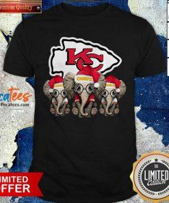 Kansas City Chiefs Elephant Christmas Shirt- Design By Pocatees.com