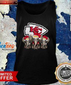 Kansas City Chiefs Elephant Christmas Tank Top- Design By Pocatees.com