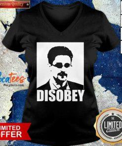 Edward Snowden Disobey V Neck- Design By Pocatees.com