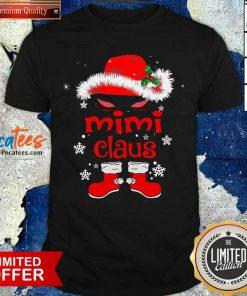 Santa Women Mimi Claus Christmas Shirt- Design By Pocatees.com