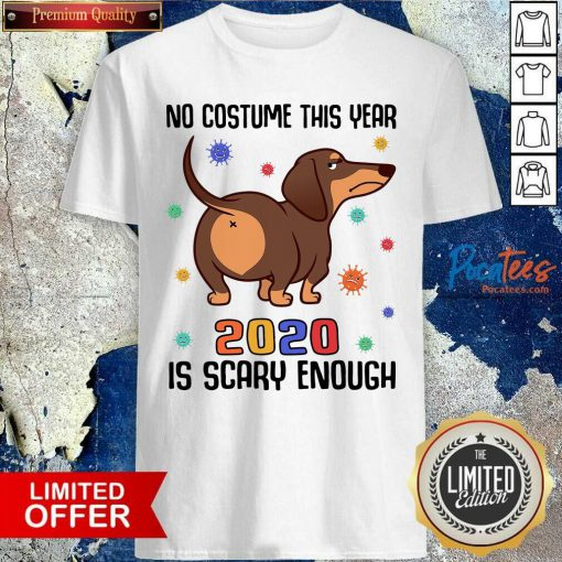 Dachshund No Costume This Year 2020 Is Scary Enough Coronavirus Shirt- Design By Pocatees.com