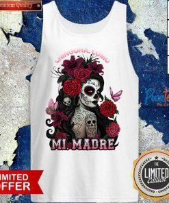 Top Cinco De Mayo Chingona Como Mi Madre Tattoos Flower Tank Top