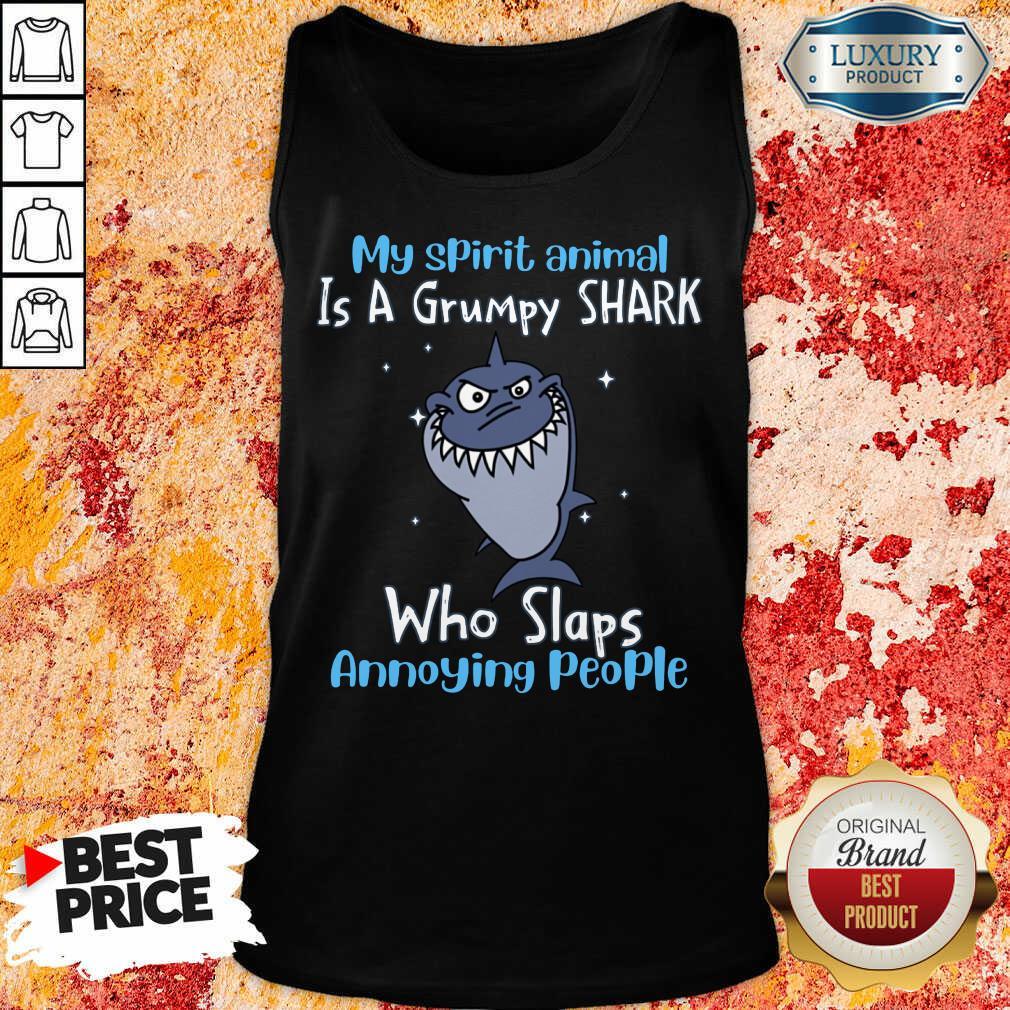 Vip My Spirit Animal Is A Grumpy Shark Tank Top