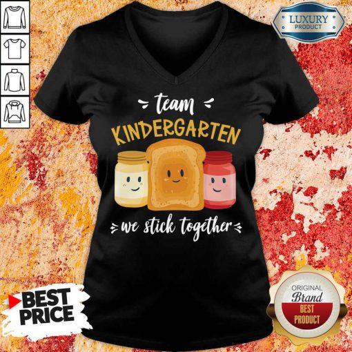 Vip We Stick Together Sandwich Team Kindergarten V-neck