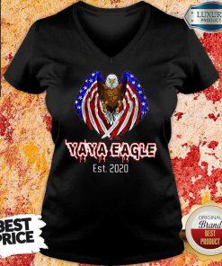 2020 American Flag YaYa Eagle V-neck