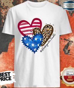 American Hearts Kindergarten Teacher Shirt