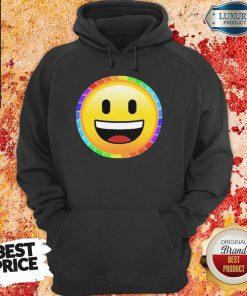 LGBT Discreet Pride Smiley Face Hoodie