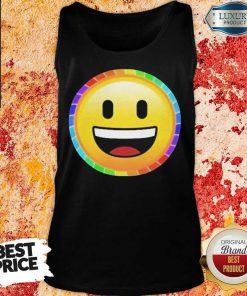 LGBT Discreet Pride Smiley Face Tank Top