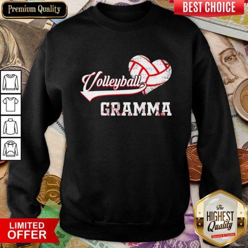 Nice Volleyball Grandma Sweatshirt