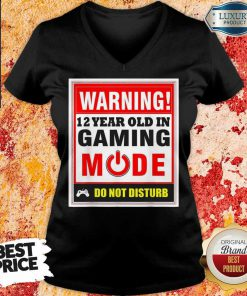 Warning 12 Years Old In Gaming Mode Do Not Disturb V-neck
